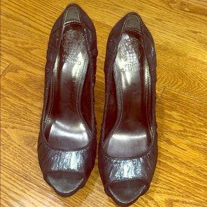 Vince camuto open toe heels